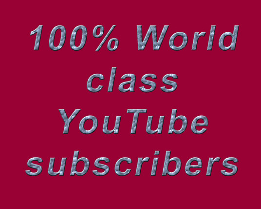 Give you Real, Active 400 Youtube Subscribers, without any Bot