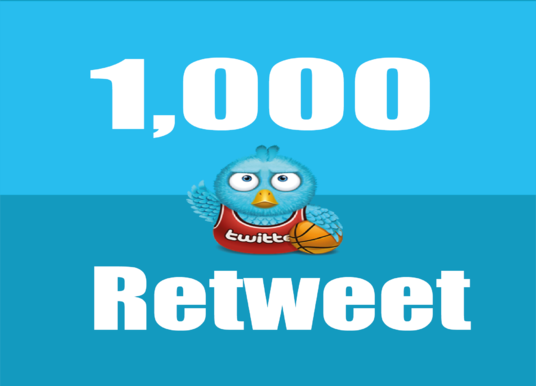 I will Give you Instant 1,000+ UK Twitter retweets