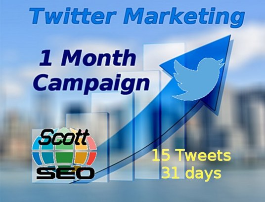 I will tweet a message or URL to 20k plus twitter followers 15 times - 1 Month Campaign - Top Twi