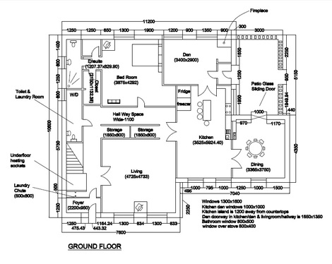 Redraw your floor plan in autocad for