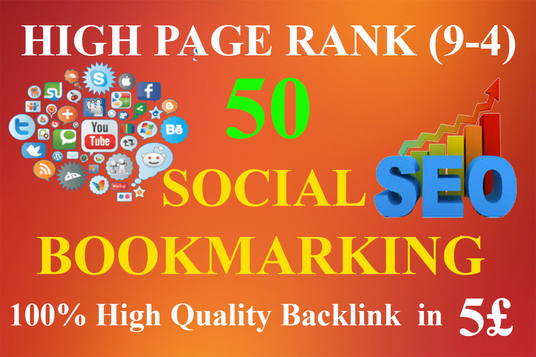I will submit manually 50 social bookmark in High Page Authority
