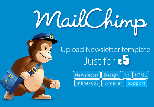 I will design a professional HTML newsletter/emailer  and upload into your mailchimp