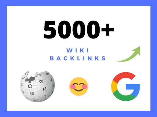 I will provide 5000 wiki backlinks mix of profiles & articles