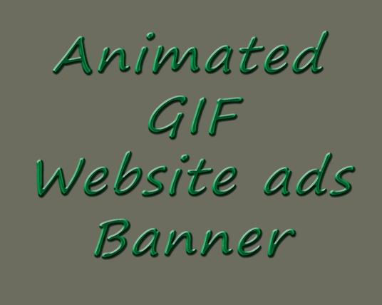 I will design your animated GIF or Website ads Banner
