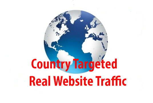 I will deliver country targeted real website traffic