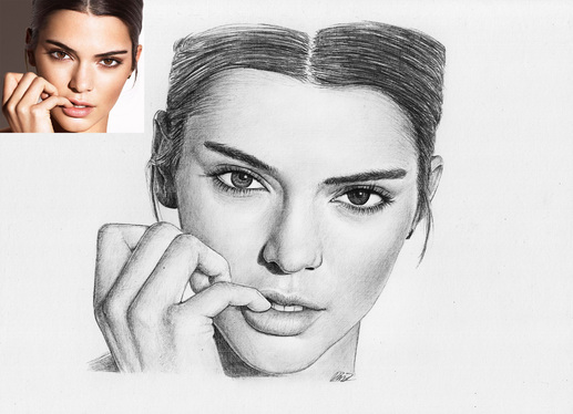 draw a realistic pencil portrait from your photo for 5 dimassbp