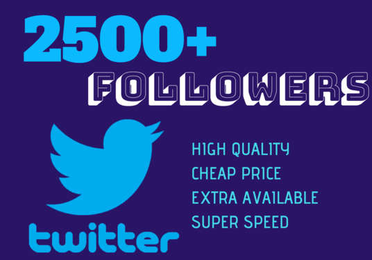 I will provide 1500+ Twitter Followers at best speed