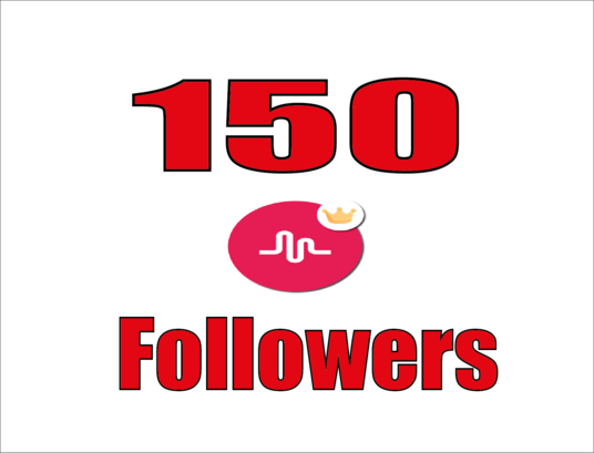 I will provide you high quality 150 musical.ly followers