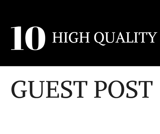 I will Write And Publish 10 Guest Post With High Da50+