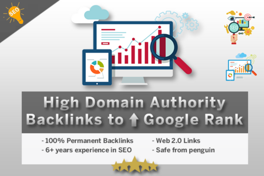 I will Create 25 High Domain Authority Backlinks To Improve Google Rankings