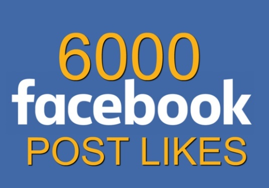 I will provide 6000 Facebook Post Likes