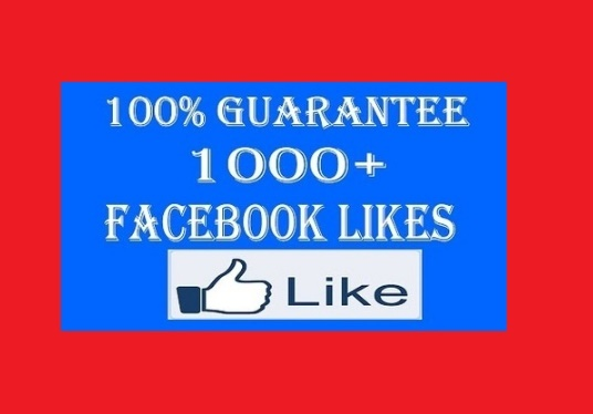 I will 1000 facebook fan page likes