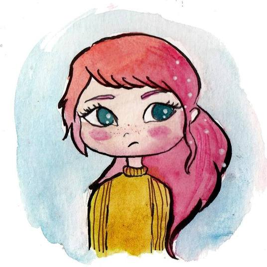 I will paint you a cute profile picture in watercolor