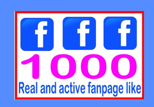 I will Give You 1000 Real & Non-Drop Facebook Fan Page Likes To Improve your Social Media