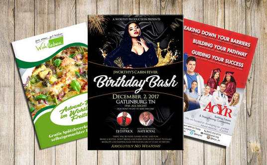 I will Design Awesome Flyer, Poster, Brochure