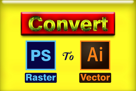 Convert PSD file or any Image file to Ai and Eps