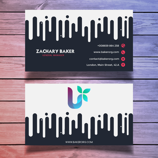 I will design a modern and professional business card