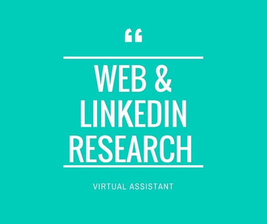 I will Be Your Virtual Assistant, Web Research, Lead Generation
