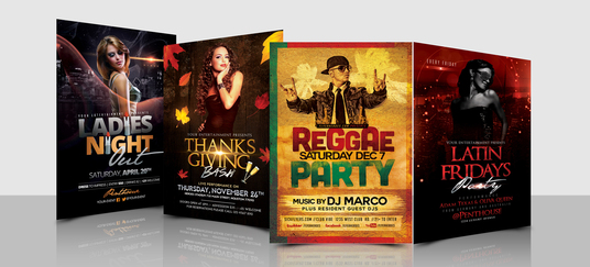 Do any kind of music, party, event, club flyers and posters