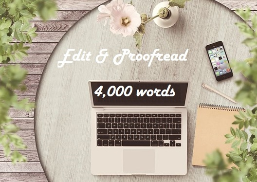 expertly proofread and edit up to 4,000 words of your short story or article
