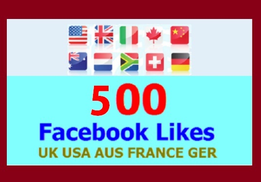 I will Add 500 Facebook Likes from UK, USA, AUS