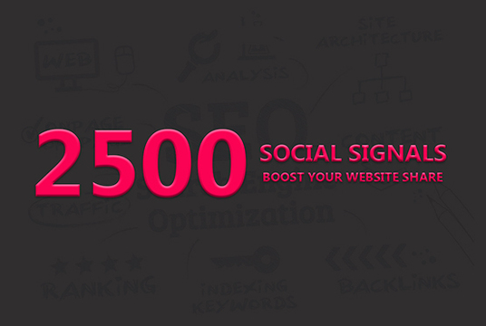 I will Create 2500 Permanent Seo Social Signals