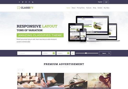 I will create a professional ads listing directory website