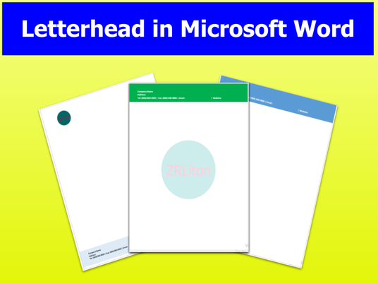 I will design Letterhead in Microsoft Word