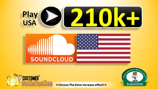 I will Play 210,000+ USA SOUNDCLOUD  in Your Track, Top Quality, All are USA CIty, Non Drop Guara
