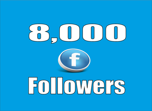 give you real 8,000 Facebook Profile Followers