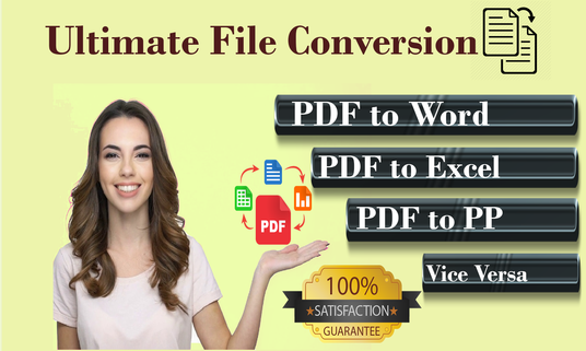 I will convert PDF to word, excel, power-point and vice versa