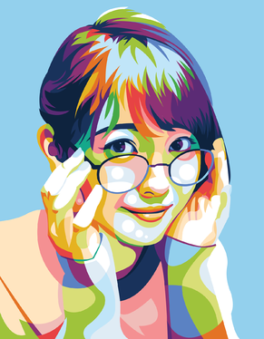 Draw Your Photo To Be More  Colorful in Vector Art