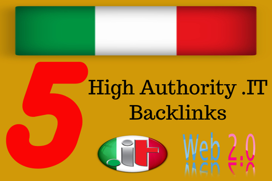 I will create 5 web2.0 for Italian Local SEO with the .it domains