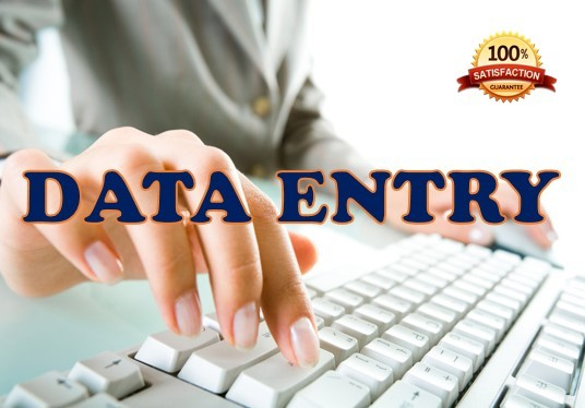 I will do data entry, research and data analysis