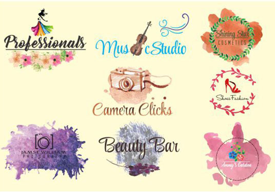 I will design water color logo and painting effect for you