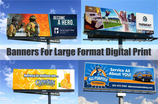 I will design large format  banner for digital print in 24hours