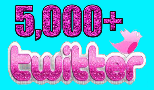 I will Give you 5,000 Guaranteed Twitter Real Followers