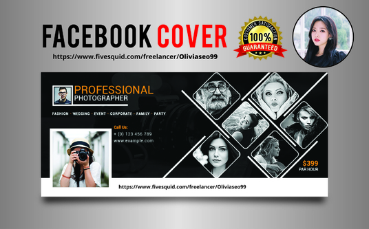 Design a professional looking facebook cover image