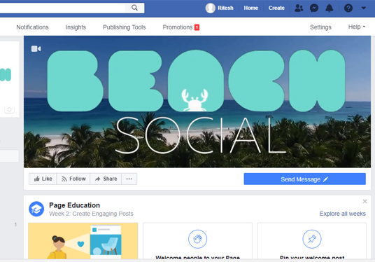Create Greate Looking  Video/Animated Facebook Cover for your Business Pages