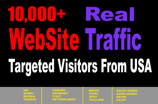 I will Increase Your Web Site Traffic Targeted Visitors From USA