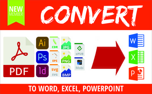 I will convert PDF, Corel draw, In Design into Word, Excel, PowerPoint