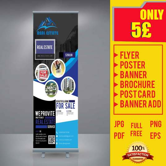 I will design roll up banner