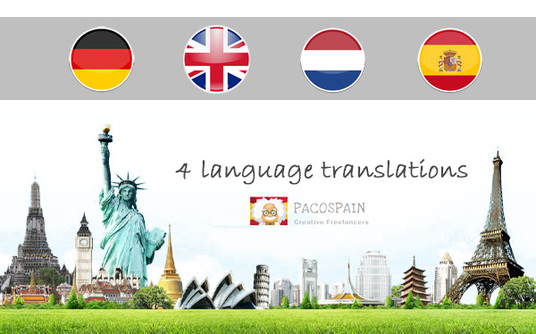 translate English, Dutch, Spanish or German