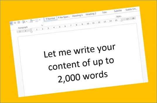 I will write an article or other content up to 2,000 words