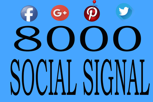 I will Add 8000 Social Share and signal