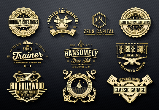 I will design vintage, luxury, retro or badge logo for your brand
