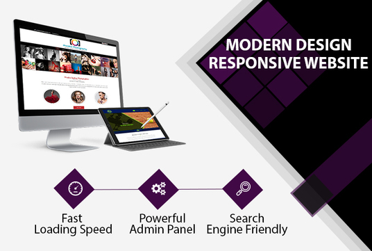 I will develop modern design fully responsive website