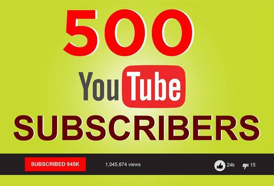 I will Provide genuine active 500 youtube subscribers