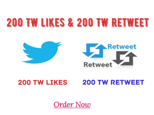 I will provide Twitter Retweet And Twitter Likes on Your Link