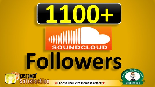 I will Add 1100+ SOUNDCLOUD Followers, Real & Active users Guaranteed